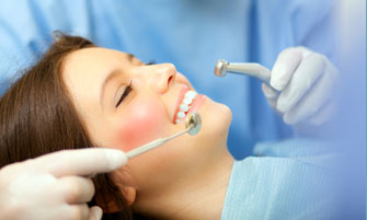 relaxed, smiling dental patient